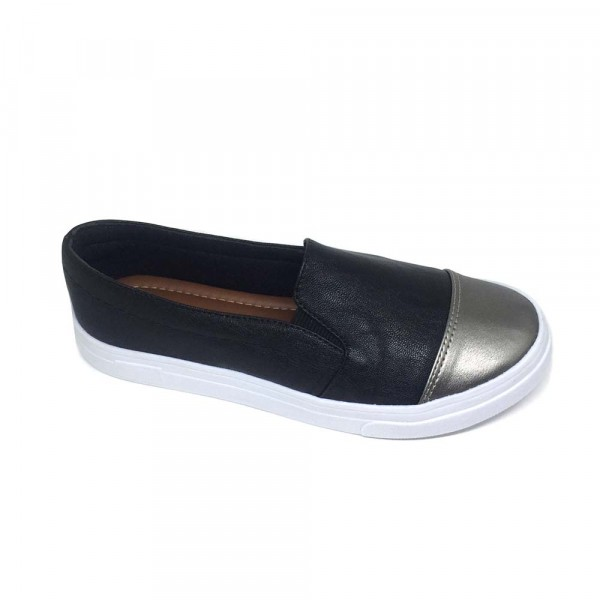 SLIP ON NEW BLACK BICO METAL