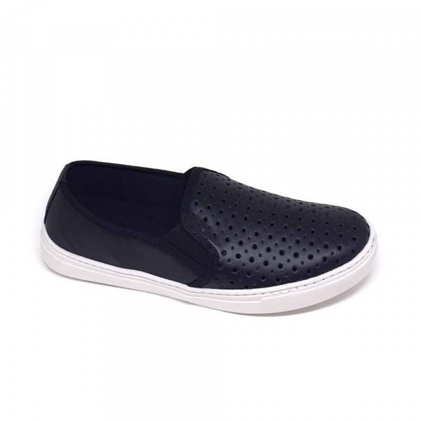MULTI SLIP ON FURADINHO PRETO